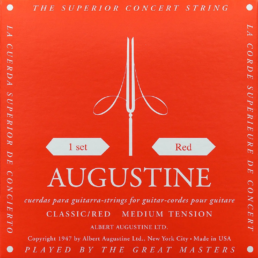 View larger image of Augustine Classic Red Single Guitar String - Medium B or 2nd