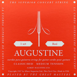 Augustine Classic Red Single Guitar String - Medium B or 2nd
