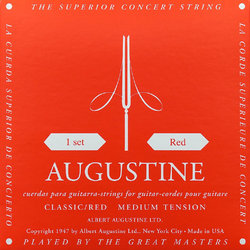 Augustine Red Classical Guitar Single String - Medium Tension D or 4th