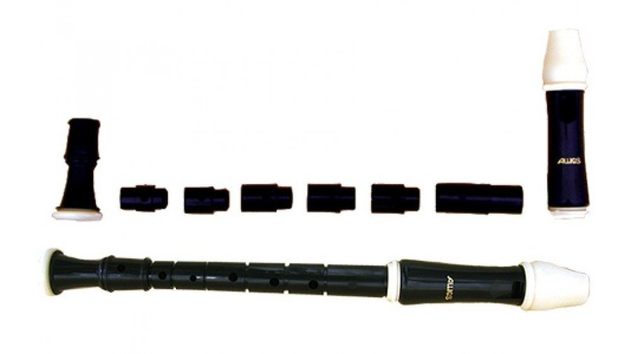 View larger image of Aulos E204AF Special Multi-Piece Soprano Recorder for the Disabled - Brown/Ivory