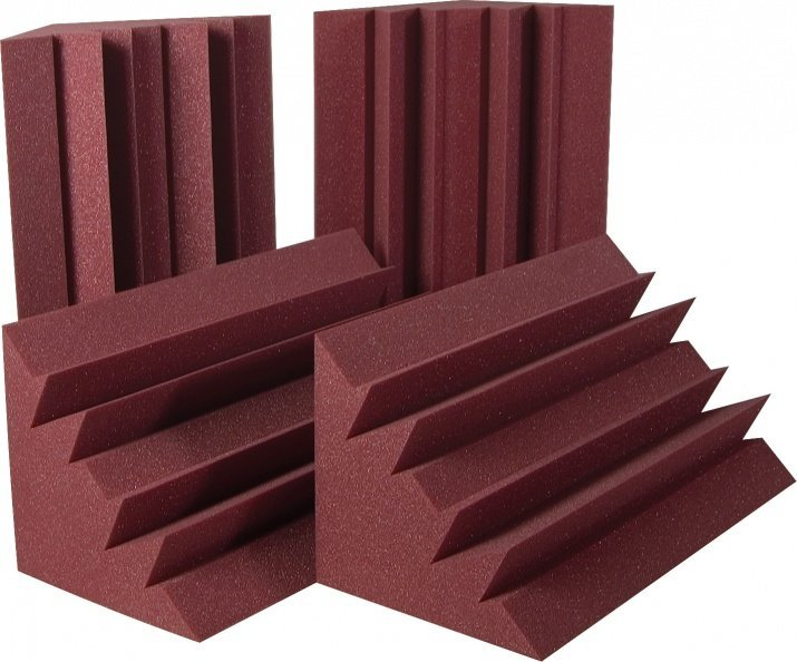 View larger image of Auralex LENRD Bass Traps - Burgundy, Set of 8