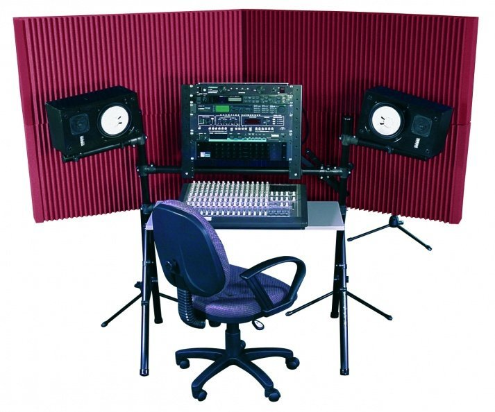 View larger image of Auralex MAX-Wall 420 Portable Acoustic Treatment System - Burgundy