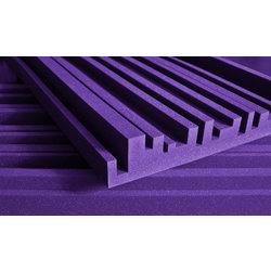 Auralex Studiofoam Metro Acoustic Tile - 2, Purple, Set of 12