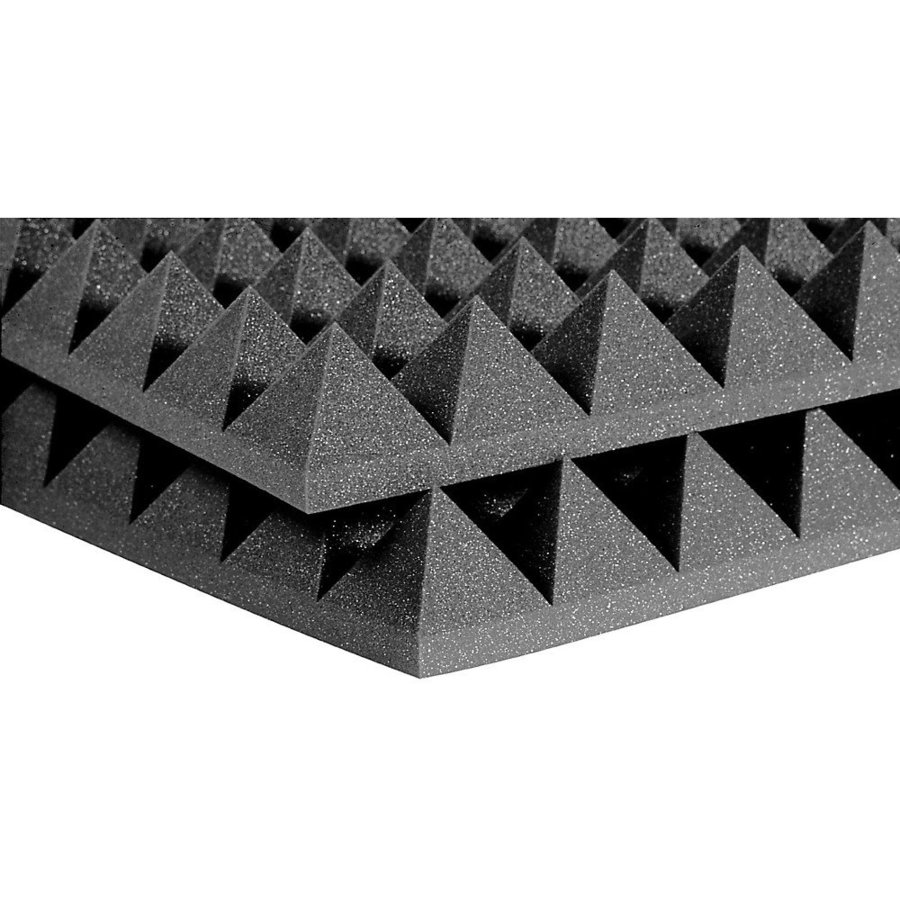 View larger image of Auralex Studiofoam Pyramid Acoustic Panels - 4, Charcoal, 6 Pack