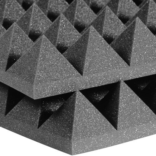 View larger image of Auralex Studiofoam Pyramids - 24x24x4, Charcoal Gray, Single