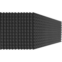 Auralex Studiofoam Pyramids - 48x24x2, Charcoal Gray, Set of 12