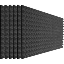 Auralex Studiofoam Pyramids - 48x24x2, Charcoal Gray, Set of 6