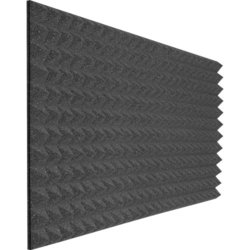 Auralex Studiofoam Pyramids - 48x24x2, Charcoal Gray, Single
