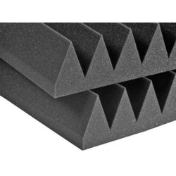 Auralex Studiofoam Wedge - Charcoal, 4, Set of 6