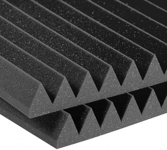 View larger image of Auralex Studiofoam Wedge - Charcoal Gray, 4, Set of 6