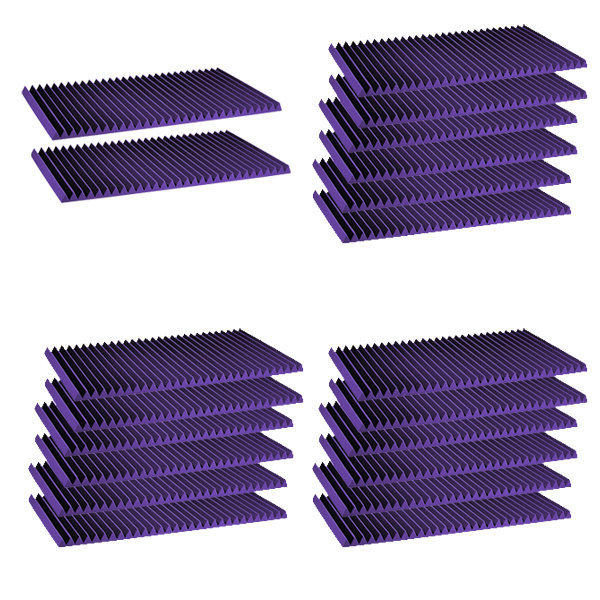View larger image of Auralex Studiofoam Wedge - Purple, 1x2'x4', Set of 20