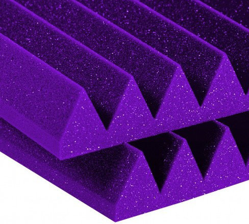 View larger image of Auralex Studiofoam Wedge - Purple, 4, Set of 6