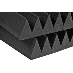 Auralex Studiofoam Wedges – Charcoal, 3, Set of 8