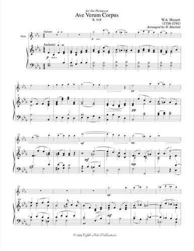View larger image of Ave Verum Corpus - (Flute Duet)