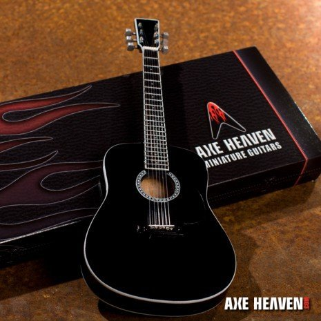 View larger image of Axe Heaven AC-003 Miniature Acoustic Guitar Replica Collectible - Classic Black