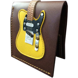 Axe Heaven Blonde Electric Guitar Leather Wallet