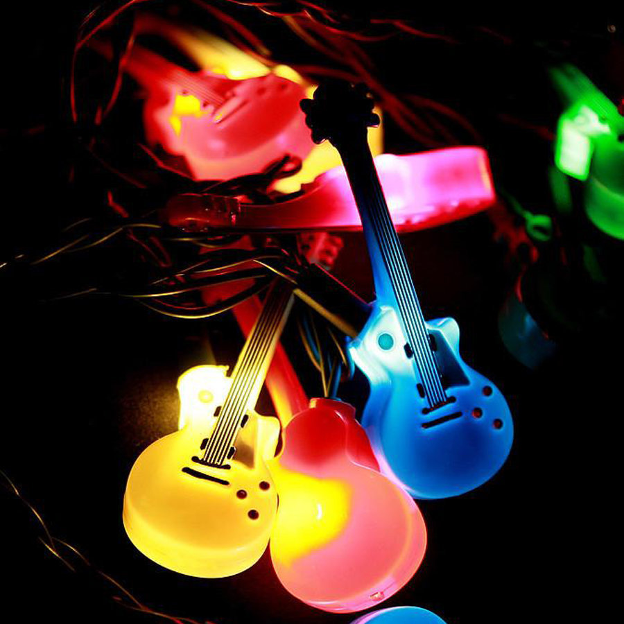 View larger image of Axe Heaven Double Cutaway Electric Guitar Party Lights