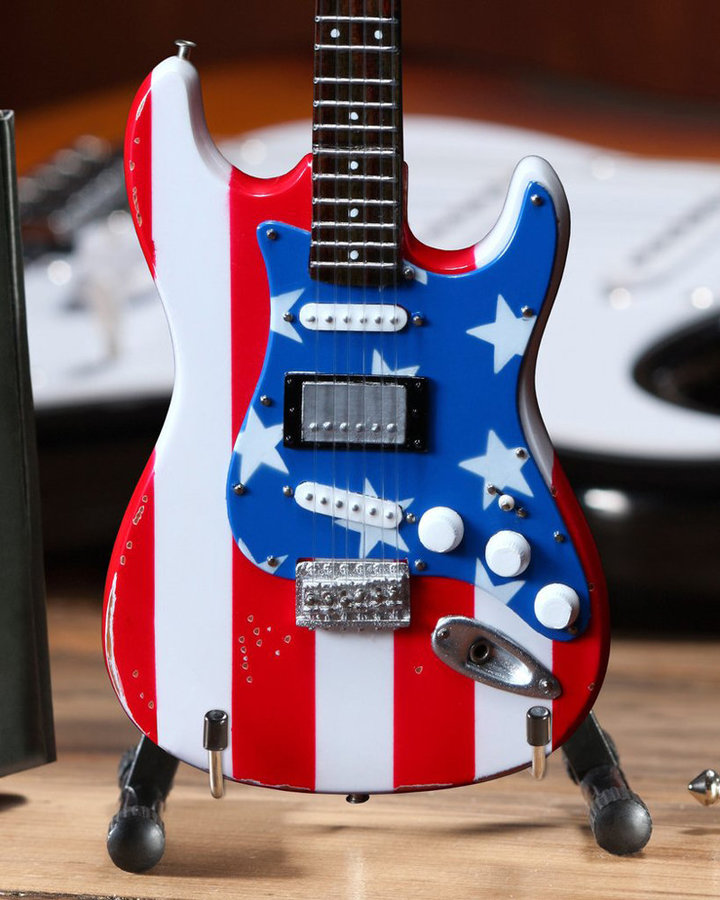 View larger image of Axe Heaven Fender Wayne Kramer Minature Stratocaster Replica - Stars and Stripes
