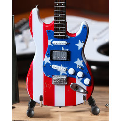 Axe Heaven Fender Wayne Kramer Minature Stratocaster Replica - Stars and Stripes