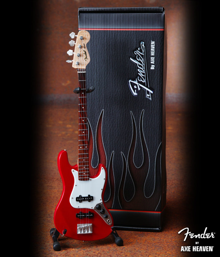 View larger image of Axe Heaven FJ-001 Officially Licensed Miniature Jazz Bass Guitar Replica Collectible - Classic Red