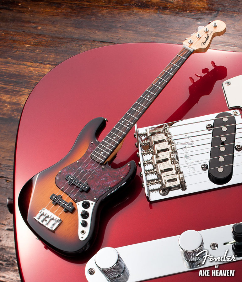 View larger image of Axe Heaven FJ-002 Officially Licensed Miniature Fender Jazz Bass Guitar Replica Collectible - Sunburst