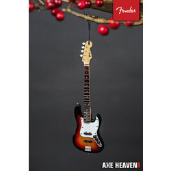 "Axe Heaven FJ-90060 6"" FENDER Sunburst Jazz Bass Guitar Holiday Ornament"