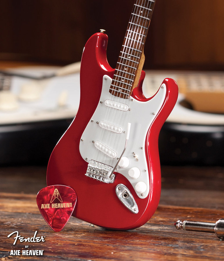 View larger image of Axe Heaven FS-006 Officially Licensed Miniature Fender Strat Guitar Replica Collectible - Classic Red