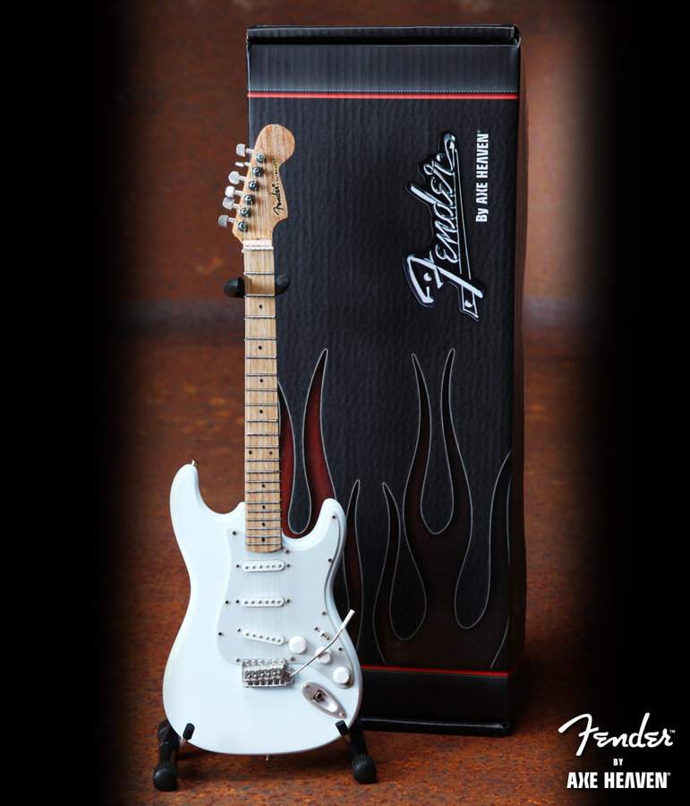 View larger image of Axe Heaven FS-008 Officially Licensed Miniature Fender Strat Guitar Replica Collectible - Olympic White