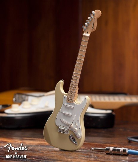 View larger image of Axe Heaven FS-013 Officially Licensed Miniature Fender Strat Guitar Replica Collectible - Classic Cream