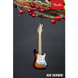 "Axe Heaven FS-60030 6"" FENDER Sunburst Stratocaster Guitar Holiday Ornament"