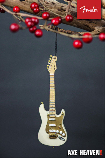 "View larger image of Axe Heaven FS-60031 6"" FENDER 50s Stratocaster Guitar Holiday Ornament – Cream"