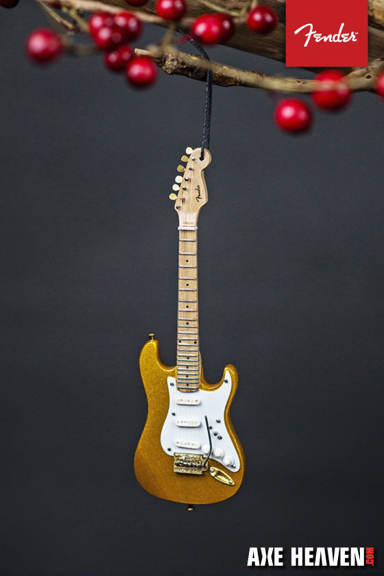 "View larger image of Axe Heaven FS-60032 6"" FENDER Gold Stratocaster Guitar Ornament"