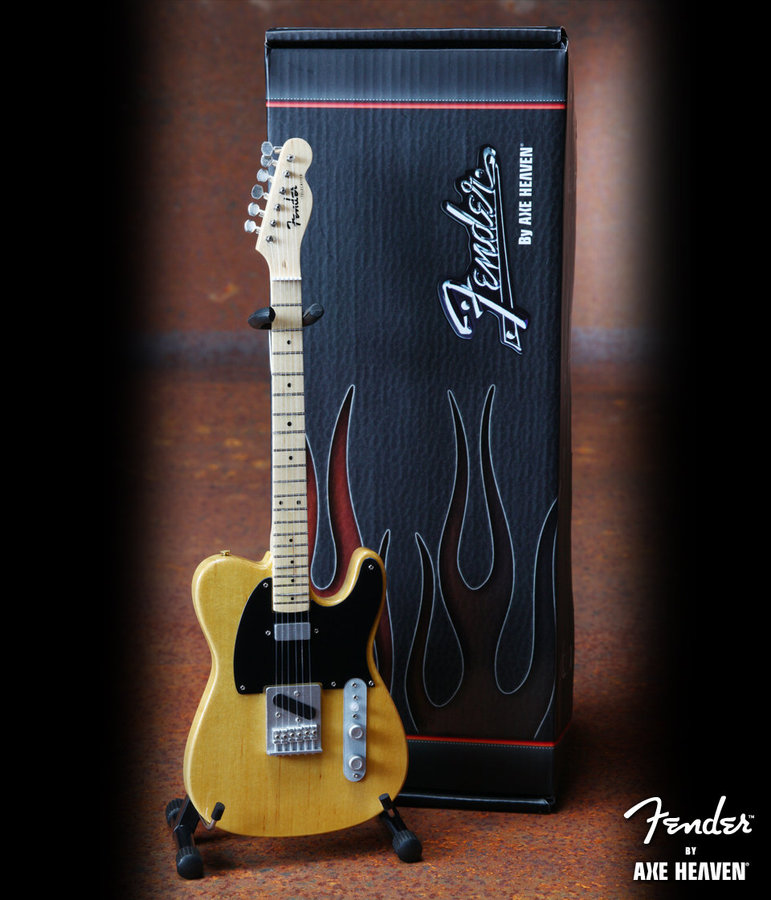 View larger image of Axe Heaven FT-001 Officially Licensed Miniature Fender Telecaster Guitar Replica Collectible - Butterscotch Blonde