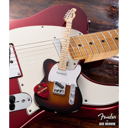 Axe Heaven FT-002 Offically Licensed Miniature Fender Telecaster Guitar Replica Collectible - Classic Sunburst