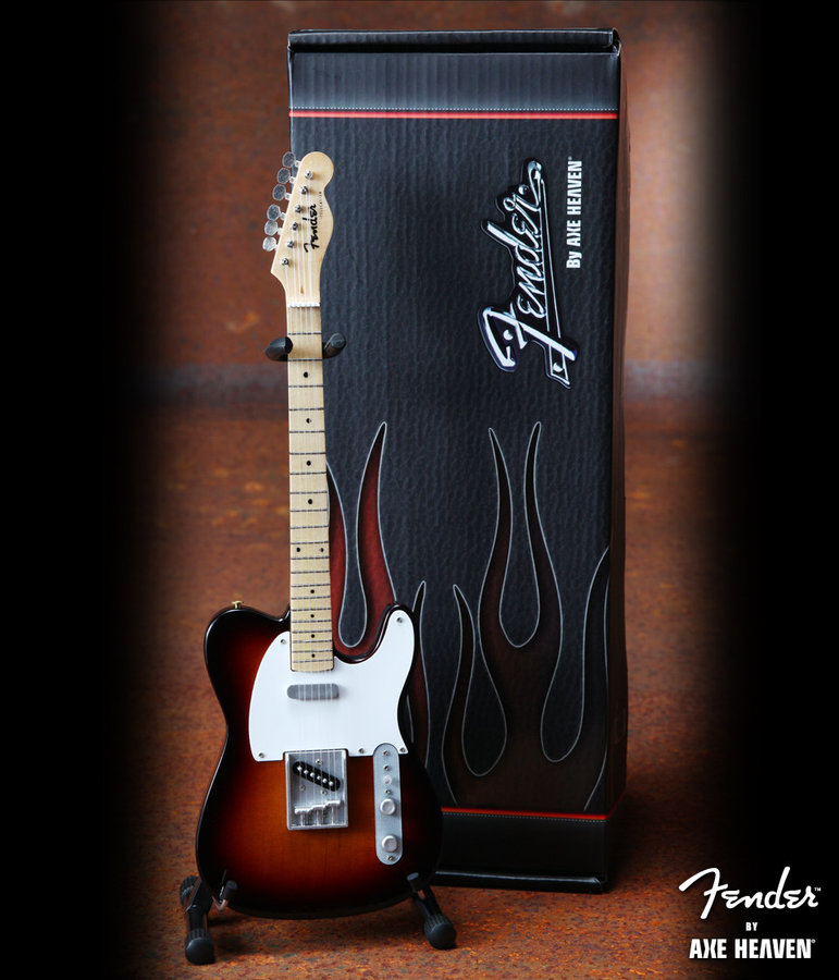 View larger image of Axe Heaven FT-002 Offically Licensed Miniature Fender Telecaster Guitar Replica Collectible - Classic Sunburst