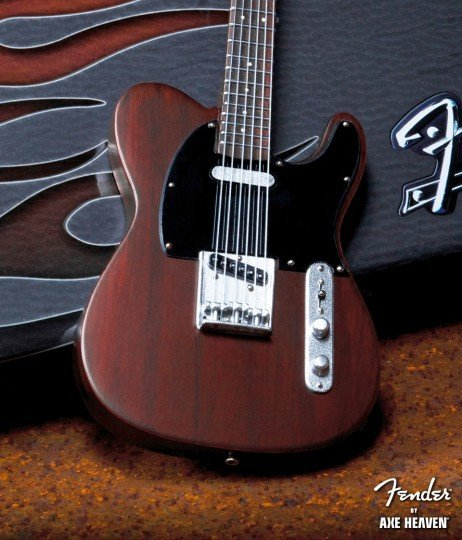View larger image of Axe Heaven FT-004 Officially Licensed Miniature Fender Telecaster Guitar Replica Collectible - Rosewood