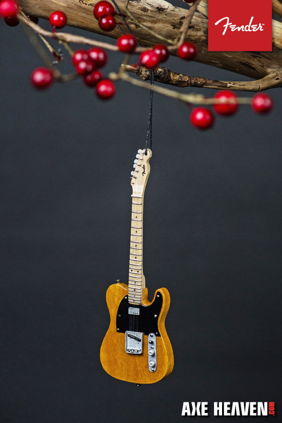 """View larger image of Axe Heaven FT-70041 6"""" FENDER 50s Blonde Telecaster Guitar Holiday Ornament"""