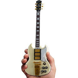 Axe Heaven Gibson '64 SG Custom Minature Guitar Replica - White