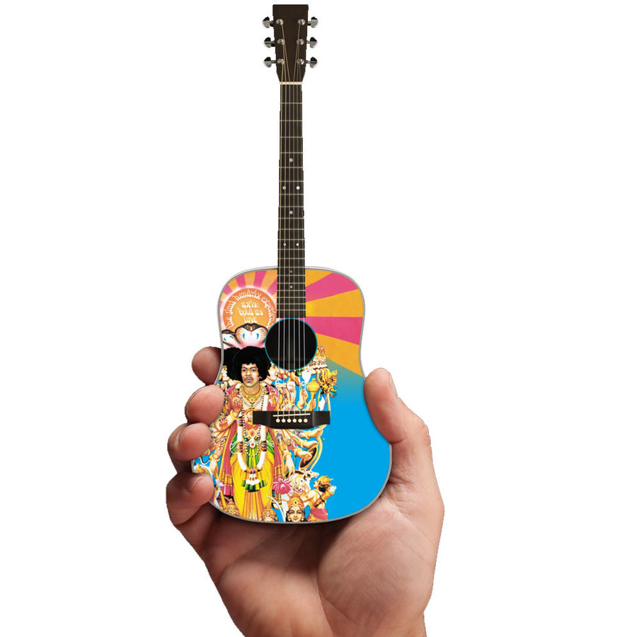 View larger image of Axe Heaven Jimi Hendrix Bold As Love Minature Acoustic Guitar Replica