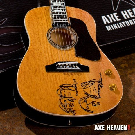 """View larger image of Axe Heaven JL-107 John Lennon """"Give Peace A Chance"""" Miniature Acoustic Guitar Replica Collectible"""