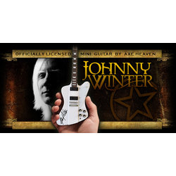 Axe Heaven JW-160 Officially Licensed Johnny Winter Signature Miniature Guitar Replica Collectible - White