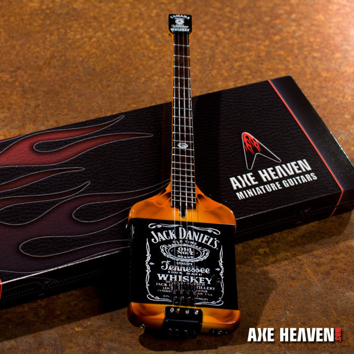 View larger image of Axe Heaven MA-030 Officially Licensed Michael Anthony Jack Daniel's Bass Mini Guitar Replica Collectible