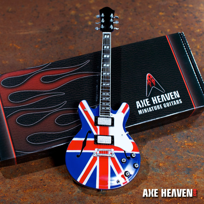 """View larger image of Axe Heaven NG-311 Noel Gallagher """"Union Jack Supernova"""" Miniature Guitar Replica Collectible"""