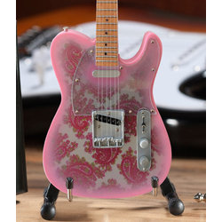 Axe Heaven Officially Licensed Minature Fender Telecaster Replica - Pink Paisley