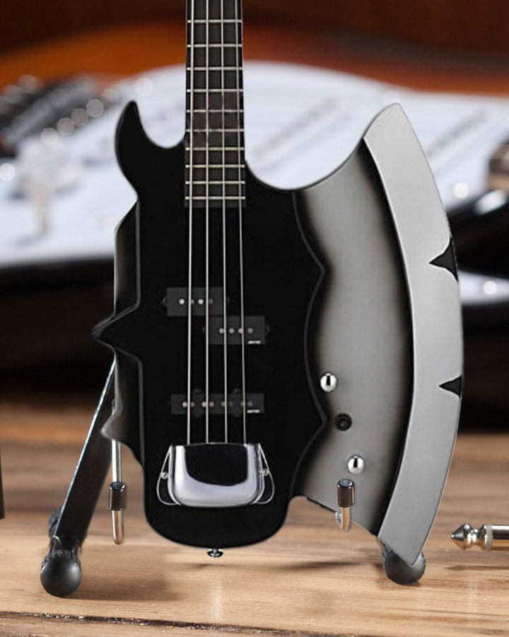 View larger image of Axe Heaven Officially Licensed Minature Gene Simmons Signature AXE Bass Guitar