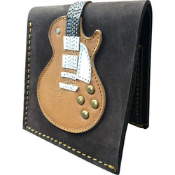 Axe Heaven Single Cutaway Electric Guitar Leather Wallet