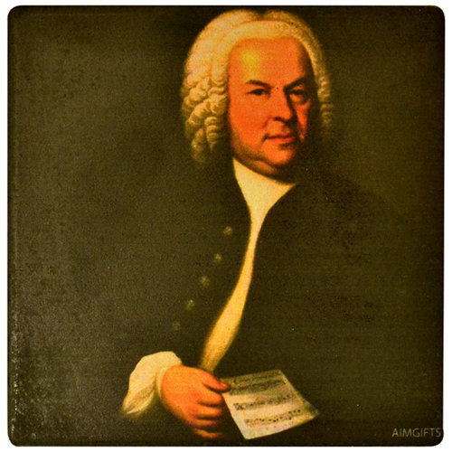 View larger image of Bach Ceramic Coaster - 4-1/4x4-1/4