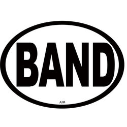 Band Oval Magnet