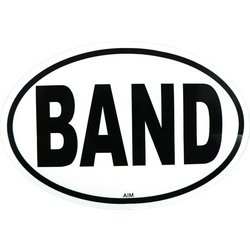 Band Sticker - Oval