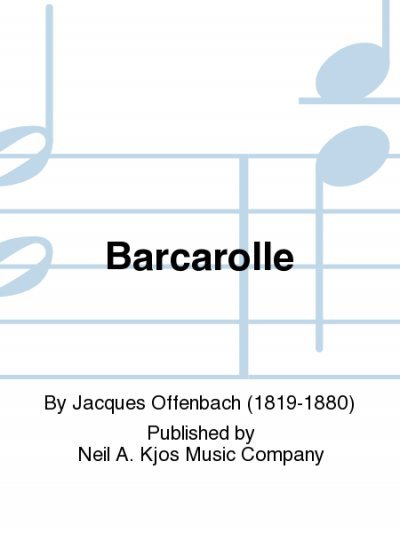 View larger image of Barcarolle (From Tales of Hoffman) - Saxophone Duet